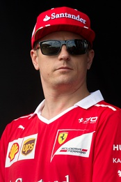 Kimi Räikkönen finished the season in third place, driving for Ferrari.