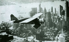 Lituanica above New York in 1933. The transatlantic flight was one of the most precise in aviation history. It equaled, and in some aspects surpassed, Charles Lindbergh's classic flight.
