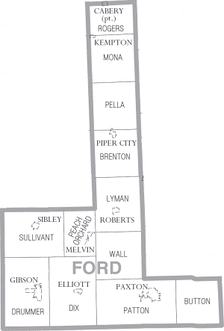 Map of Ford County