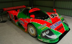 The Mazda 787B, winner of the 1991 24 Hours of Le Mans race