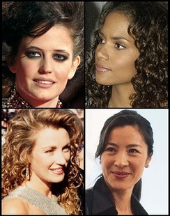 Clockwise from top left: Eva Green, Halle Berry, Michelle Yeoh and Jane Seymour