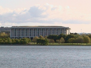 National Library of Australia as viewed from Lake Burley Griffin, Canberra