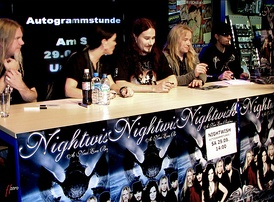 Nightwish at signing session in Hamburg, 2007.