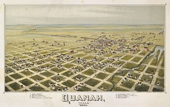Map of Quanah from 1890