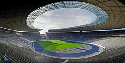 The Olympiastadion after renovation in 2004.