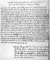 Petition for bail of eleven accused people from Ipswich, 1692