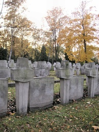 Graves of Jewish-Polish soldiers who died in 1939 September Campaign, Powązki Cemetery