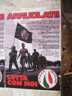 Propaganda poster posted in Rome