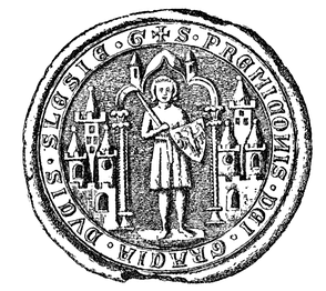 Przemko's seal, dated to 1284.