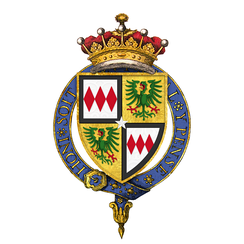 Quartered arms of Sir Edward Montagu, 1st Earl of Sandwich, KG