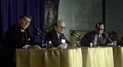 The Nashua debate between Ronald Reagan (left) and George H. W. Bush (right)