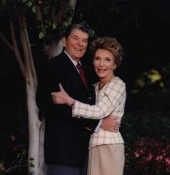 The Reagans in Los Angeles after leaving the White House, 1992
