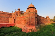 The Red Fort, Delhi, its construction begun in 1639 CE, and ended in 1648 CE.