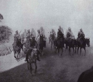 Russian Cavalry under Reconnaissance Mission during the Battle of Mukden.jpg