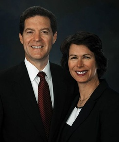 Brownback with his wife, Mary, during his US Senate years