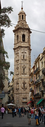 Baroque belfry of the Gothic Santa Catalina church