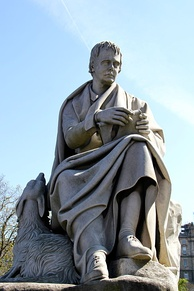 Statue by Sir John Steell on the Scott Monument in Edinburgh