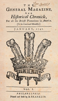 Franklin's The General Magazine and Historical Chronicle (Jan. 1741)