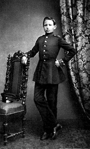 Paul von Hindenburg as a cadet in Wahlstatt (1860)