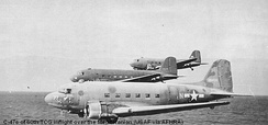 C-47 Skytrains of the 60th Troop Carrier Group, World War II Douglas C-47A 42-92409 identifiable