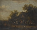 A Poultry Market Before a Village Inn by Barent Gael, n.d. (late 17th century)