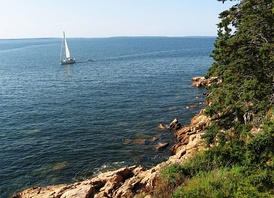 The coast of Maine near Acadia National Park