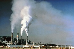Before flue-gas desulfurization was installed, the air-polluting emissions from this power plant in New Mexico contained excessive amounts of sulfur dioxide.