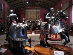 Royal Armoury of Madrid, located in the Royal Palace of Madrid