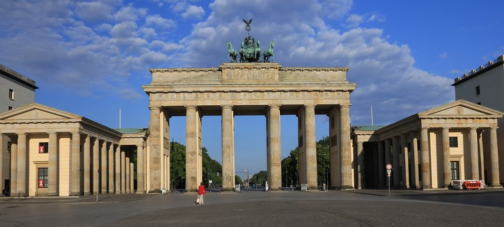 The Brandenburg Gate in early morning light