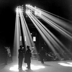 A photo by Jack Delano of Chicago's Union Station in 1943, one of its busiest periods