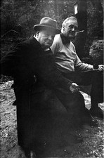 Franklin D. Roosevelt and Winston Churchill at then-named Shangri-La, May 1943