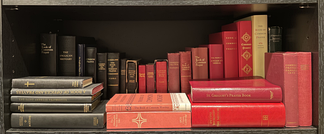 A collection of various editions of the Book of Common Prayer, derivatives, and associated liturgical texts from within the Anglican Communion, Catholic Church, and Western Rite Orthodoxy.