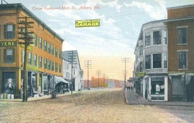 Corner of Court and Main streets c. 1908