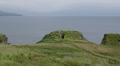 The ruins of Dun Ringill, near Elgol on the island of Skye