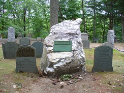 Emerson's grave in Sleepy Hollow Cemetery, Concord