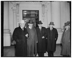 (L-R): Vice President John Nance Garner, Senate Majority Leader Alben Barkley, Speaker of the House William Bankhead, and House Majority Leader Sam Rayburn, January 9, 1939