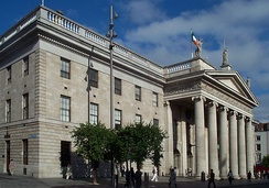 The GPO on O'Connell Street was at the centre of the 1916 Easter Rising.