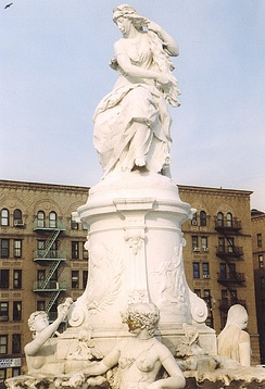 Statue of Lorelei; the Lorelei Fountain Heine memorial is located in the Bronx, New York City