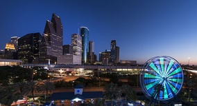 Houston, Texas Skyline image is part of the Lyda Hill Texas Collection at the Library of Congress