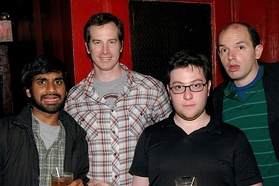 Human Giant's Aziz Ansari, Rob Huebel, Jason Woliner and Paul Scheer in May 2007