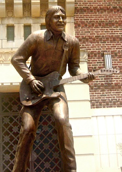 Statue of Burton at the Shreveport Municipal Auditorium