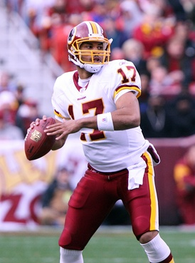 Quarterback Jason Campbell played for the Redskins from 2005–2009