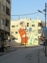 Street art in modern Jerash