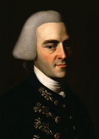 John Hancock, President of the Continental Congress, renowned for his large and stylish signature on the United States Declaration of Independence