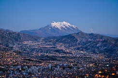 La Paz, Bolivia, is the largest city located in the Altiplano and is the highest capital city in the world