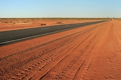The Lasseter Highway connects Uluru (Ayers Rock) to the Stuart Highway