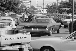 Line at a gas station in Maryland, United States, June 15, 1979.
