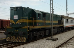 MONTECARGO 644-015 shunting at Podgorica station.