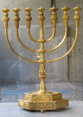 A reconstruction of the Menorah of the Temple created by the Temple Institute