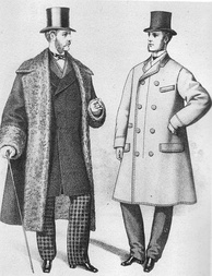 Drawing of Victorian men 1870s